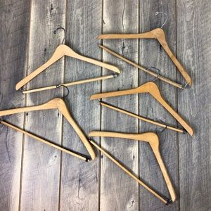 Lot of 5 Wood Vintage Suit Hangers